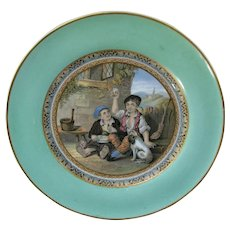 Antique Pratt Ware Dessert Plate