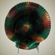 Tortoise Shell 19th Century English Majolica Dish