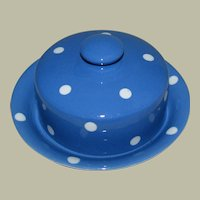 T.G. Green Domino Ware Covered Small Cheese or Butter Dish