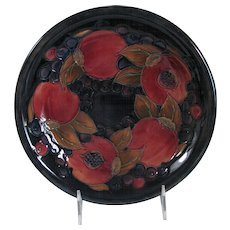 William Moorcroft 8-1/2 inch Perfect Pomegranate Dish