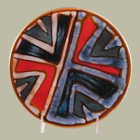 Poole Studio Pottery Plate from the 1960's