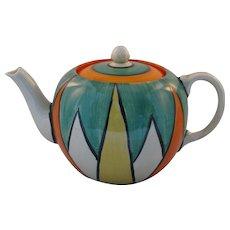 Clarice Cliff Original Bizarre Globe Shape Teapot