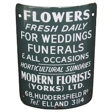 English Florist's Advertising Sign