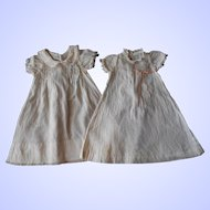 Two Vintage Seamstress-made Long Baby Doll Dresses--1930's