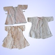 """3 Vintage Factory Made 1940's Flannel Robes for 14-16"""" Dolls"""