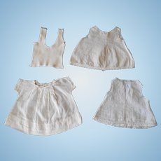 White dress and underwear--Vintage for Small Baby Dolls