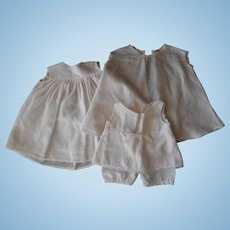 Vintage Underwear--2 Slips and a Shirley Temple-style Onesie
