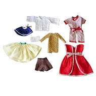 "Assorted Vintage Clothes for 8-12"" Dolls, 1 Tagged ""Nancy Ann"""