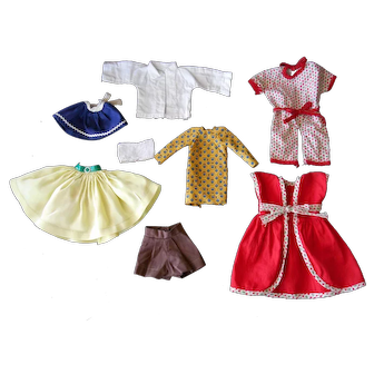 """Assorted Vintage Clothes for 8-12"""" Dolls, 1 Tagged """"Nancy Ann"""""""