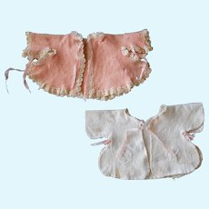 Two Baby Doll Bed Jackets from the 1930's: One Factory, One Hand Made