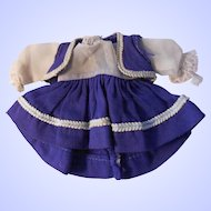 "Ginny or other 8"" doll dress and bolero--Vintage early 1950's"