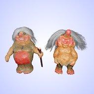 Pair of Norwegian NyForm Trolls--1970's