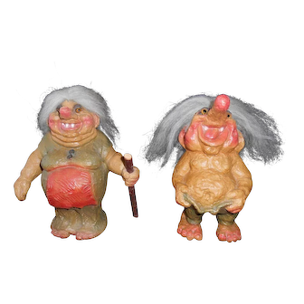 Pair of Norwegian Ny Form Trolls--1970's