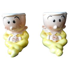 Pair of Sweet Pea Egg Cups--1980