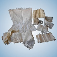 Saved and Salvaged Eyelet for Doll Sewing