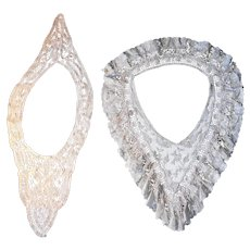 Two Fancy Lace Collars--Late 1800's, Early 1900's