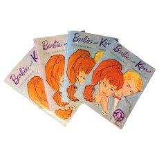 Four Vintage Barbie Sales Booklets--1962