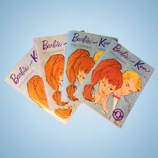 Four Vintage Barbie Sales Booklets--1962