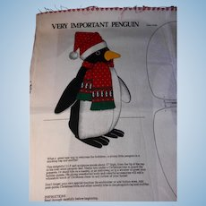 Vintage Printed Panel: Sew a Very Important Penguin for Holiday Decor
