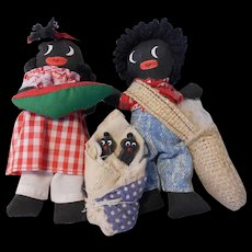 Little Golliwog Style African American Family by Sharon Black--1991