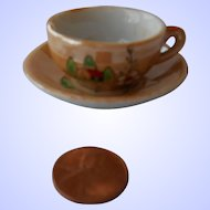 Doll Cup & Saucer--Japan Lustreware