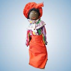 Vintage Black African American Florida Souvenir Half Doll