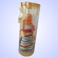 "1950's Tiny (4"") Swedish Folk Costume Doll--NRFP"