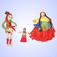 Three Tiny Dolls to Wear--Vintage 1940's