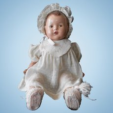 Composition and Cloth Baby Doll from 1930's