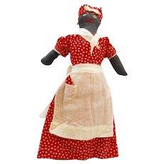 Vintage 1930-40's Handmade Black African American Doll