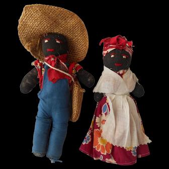 Black African American Couple--Vintage 1930-40's