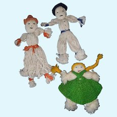 Mop and Yarn Dolls from the 1930's