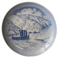 Danish-American Heritage Viking Plate 1979