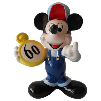 Mickey Mouse 60th Birthday Ceramic Figurine--Schmid