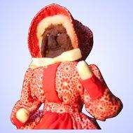 1950's Vintage Handmade Apple Head Doll--Ozarks