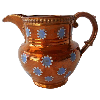 Lustreware Pitcher--Early 1900's