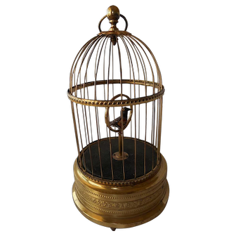 Singing Bird in a Gilded Cage--early 1900's Germany