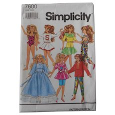 "Skipper or Courtney 10"" doll wardrobe pattern"