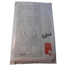 "1930's Butterick Pattern for 24"" Dolls"