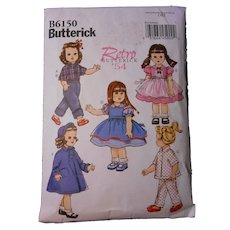 "Butterick ""Retro 54"" Pattern for 18"" dolls"