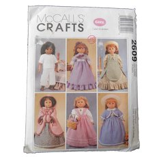 "Pattern for Historic Dresses by McCall's for 18"" or American Girl Dolls"