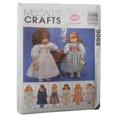 "McCall's Pattern for Vintage Styles fits American Girl or other 18"" Dolls"