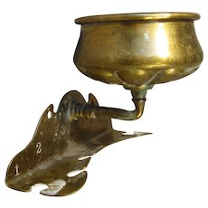 Brasscrafters Brass Cup and Toothbrush Holder, Wall-Mount Circa 1900