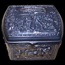New York Souvenir Repousse Trinket Box Early 1900's Jennings Bros.