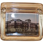 La Crosse, Wis.Souvenir Glass Pen Holder ~ State Normal School ~Early 1900's