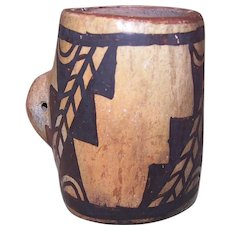 Early 1900s Hopi Ceremonial Pottery Piece with Polychrome Designs