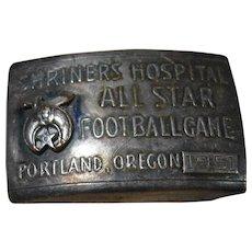 Shriners Hospital All Star Football Game, Portland, Oregon 1951 Belt Buckle