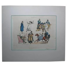 """Early 19th Century Original Hand-Colored Engraving """"SYMPTOMS"""", by Henry Alken"""