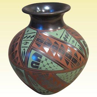 Mata Ortiz Polychrome Pot, signed Felipe Andrew