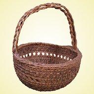 Siletz Open Work Basket, Double Handle, c.1900